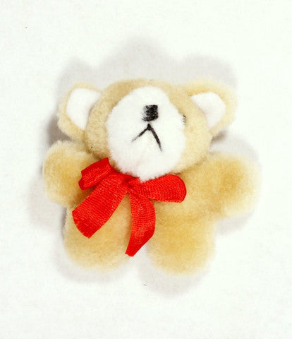 Plush Beige Bear 3'' 12pcs