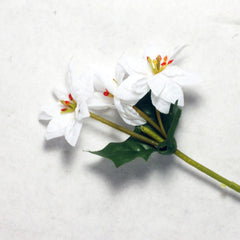 White Poinsettia Silk Flowers 1.5''