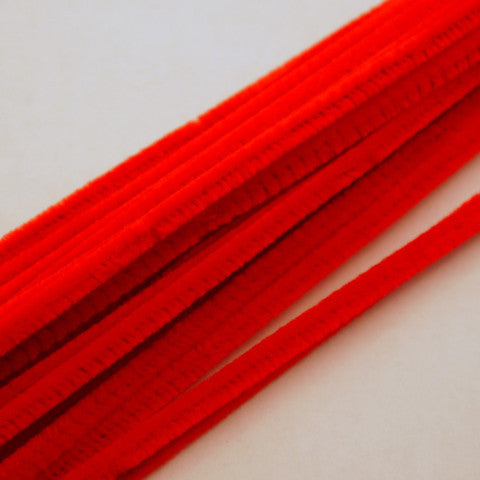 Red Chenille Stems 6mm 100pcs