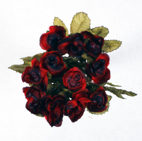 Red Mini Rose Silk Flowers 0.5''