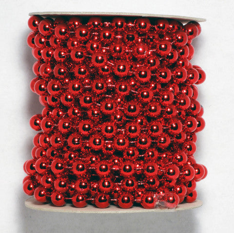 Red Fused Pearl String Beads 10mm 11 Yards