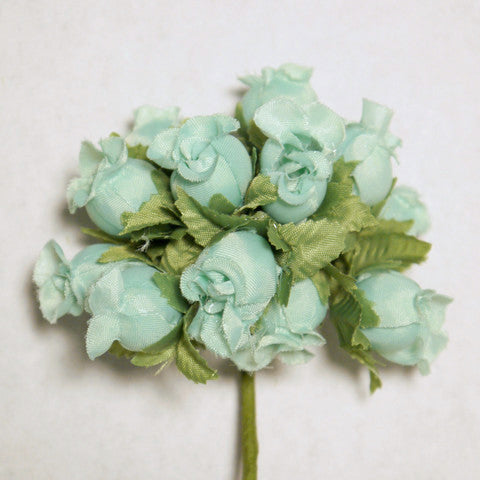 Seafoam Green Poly Rose Silk Flowers 0.75'' 144pcs