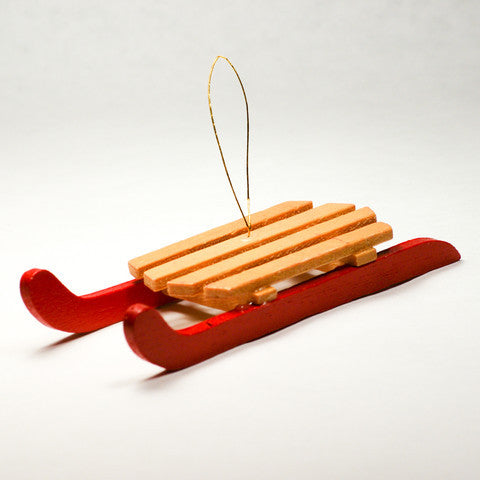small sled christmas ornament