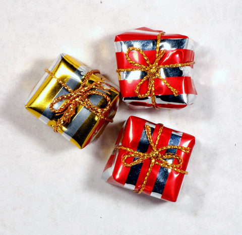 Mini Square Christmas Gift Box Ornaments