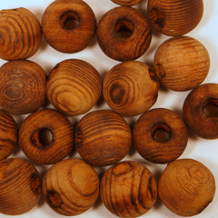 Round Wood Beads 25mm 100pcs