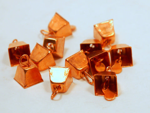 Copper Mini Cow Bells 9mm 12pcs