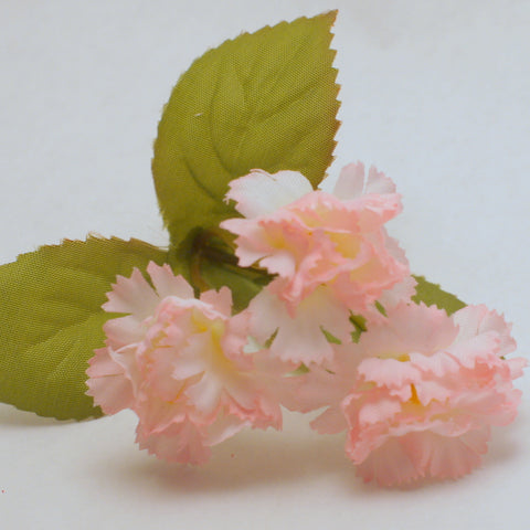 Pink Carnation Silk Flowers 12pcs