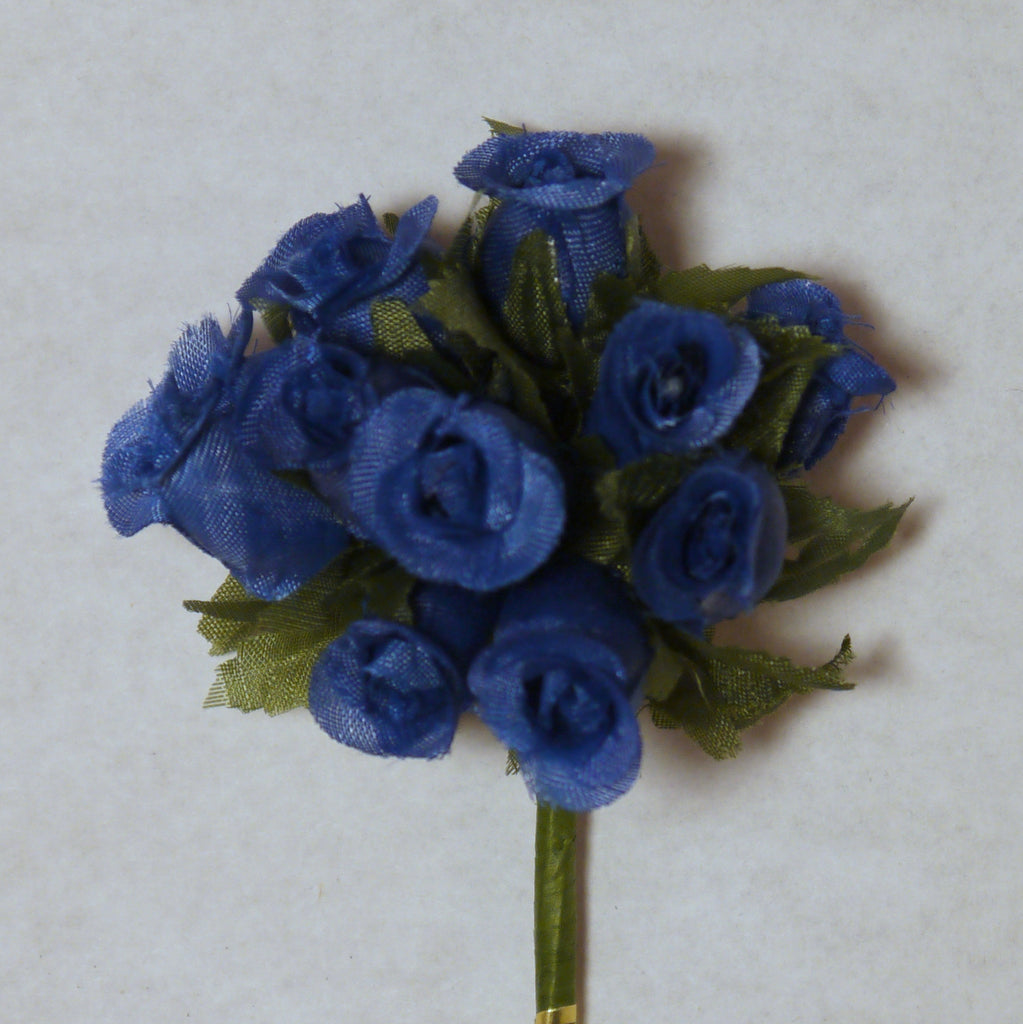 Royal Blue Poly Rose Silk Flowers 075 144 Buds Formosa Crafts