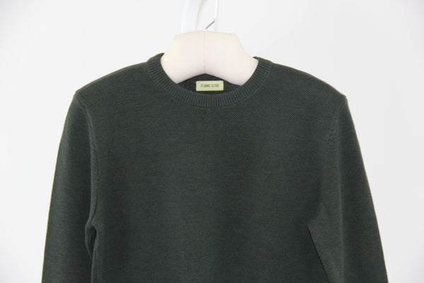 knit wool crew neck