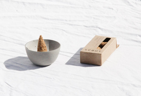 Lunita, Small Concrete Incense Burner
