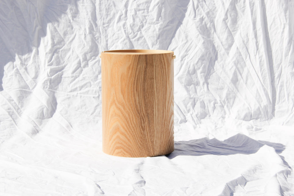 Saitowood waste basket with lid