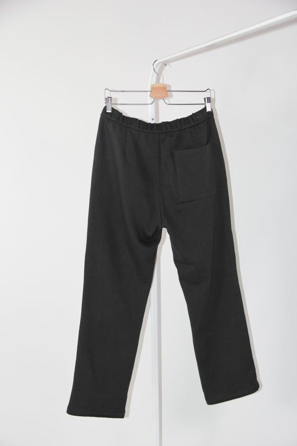 knit trousers charcoal