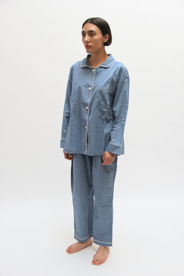 Denim Blue Pajama Set