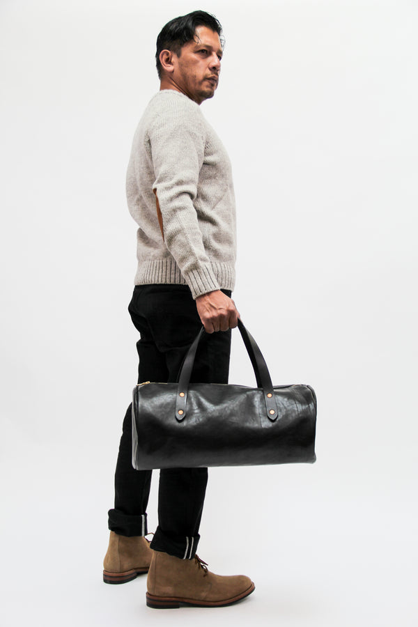 Joshu+Vela Leather Duffle, Black