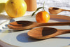large teak serving set