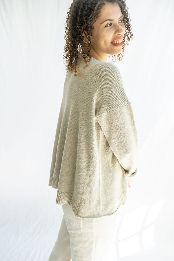 Lauren Manoogian Folk Crew Neck in Natural