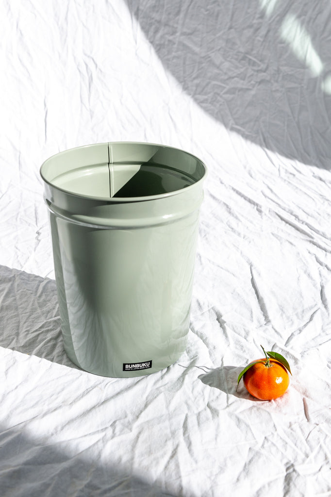 Bunbuku Waste Basket, Gray Small