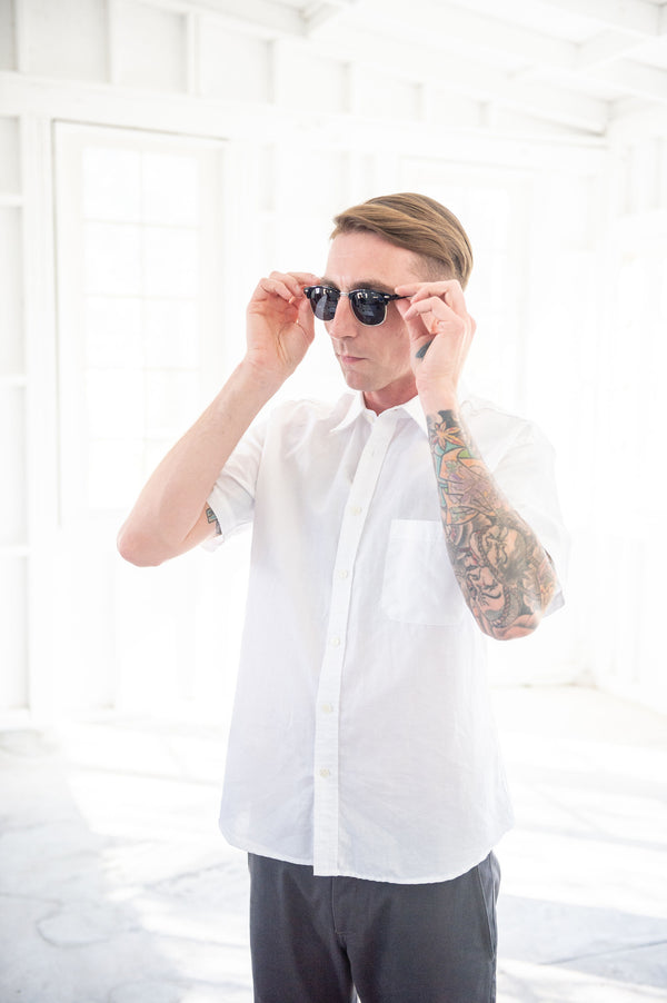 White Linen Short Sleeve