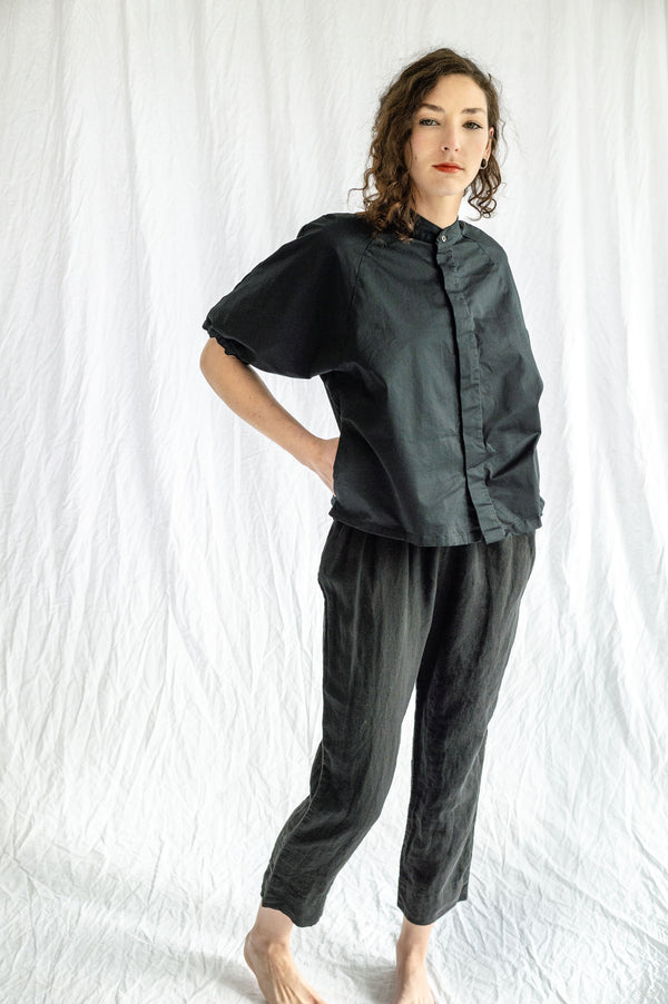 Pip-Squeak Chapeau Etc. Linen Pants Black, Large