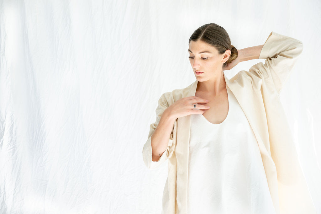 Lauren Manoogian Shawl Shirt Papyrus