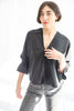 Hackwith Design House Split Hem Bell Sleeve Top