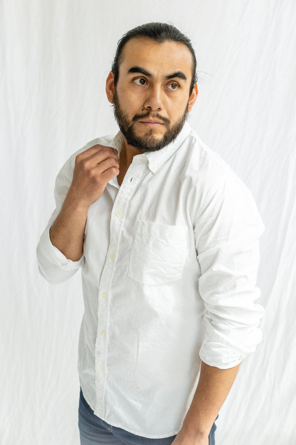 Classic White Oxford Long Sleeve Button Down