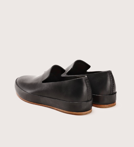 Feit Hand Sewn Slipper, Black