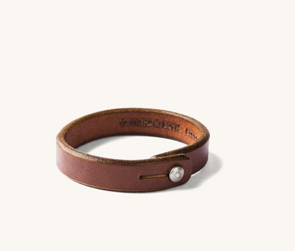 Leather Single Wrap Wristband