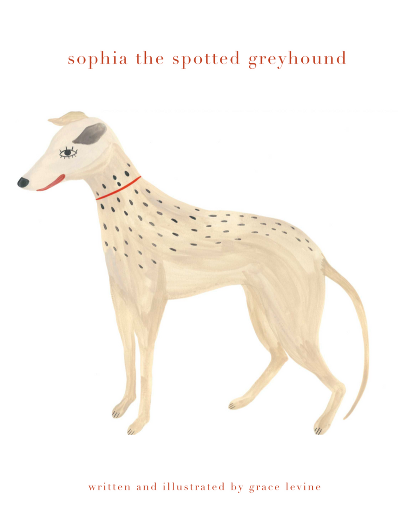 sophia the spotted greyhound