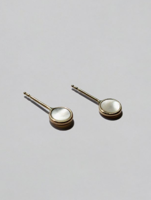 Cyril Mother of Pearl Glint Studs
