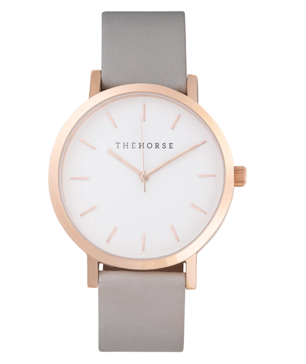 A23 polished rose gold watch