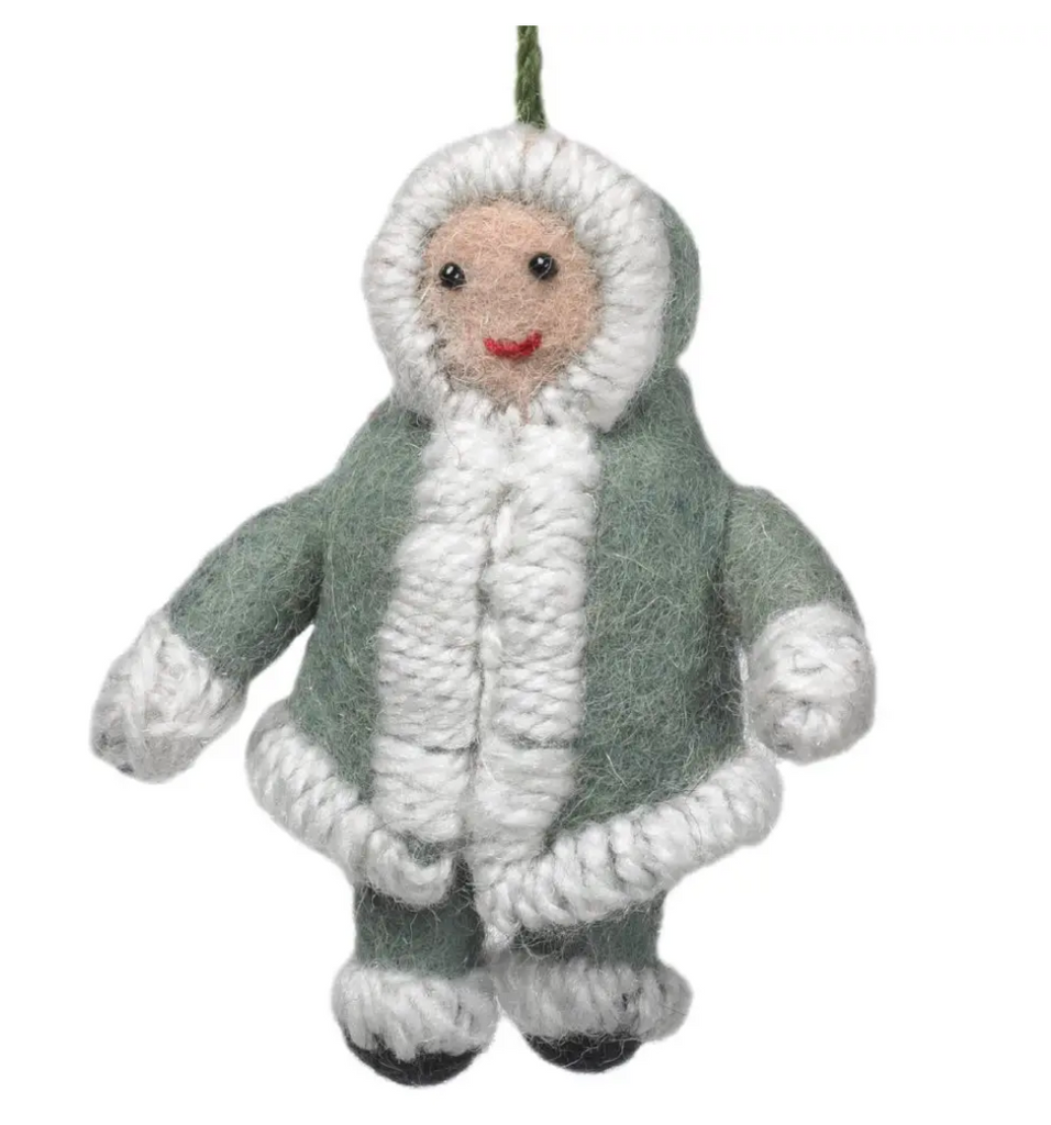 Snowsuit Christmas Ornament in Grey