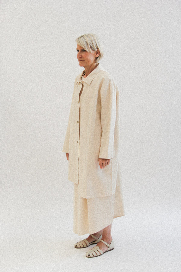 Ramie pocket coat