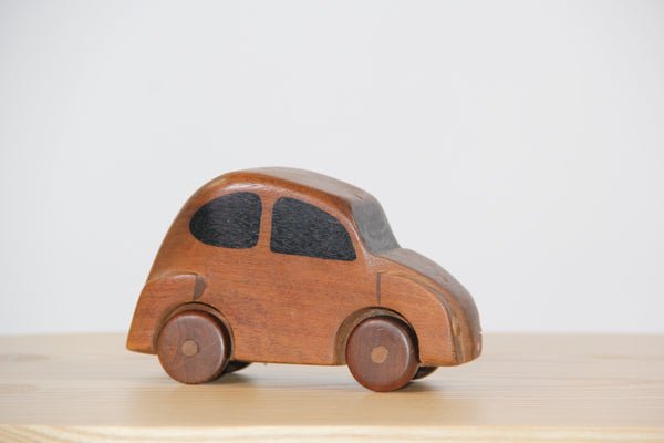 vintage wood car toy