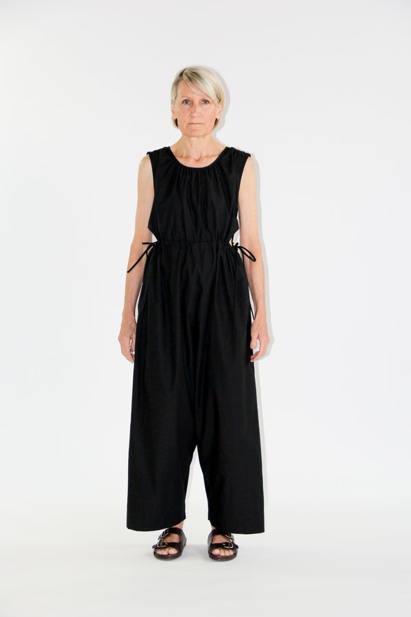 Goa jumpsuit black poplin
