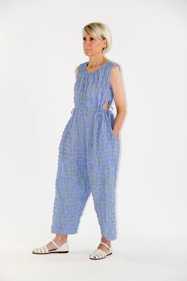 Goa jumpsuit gingham blue