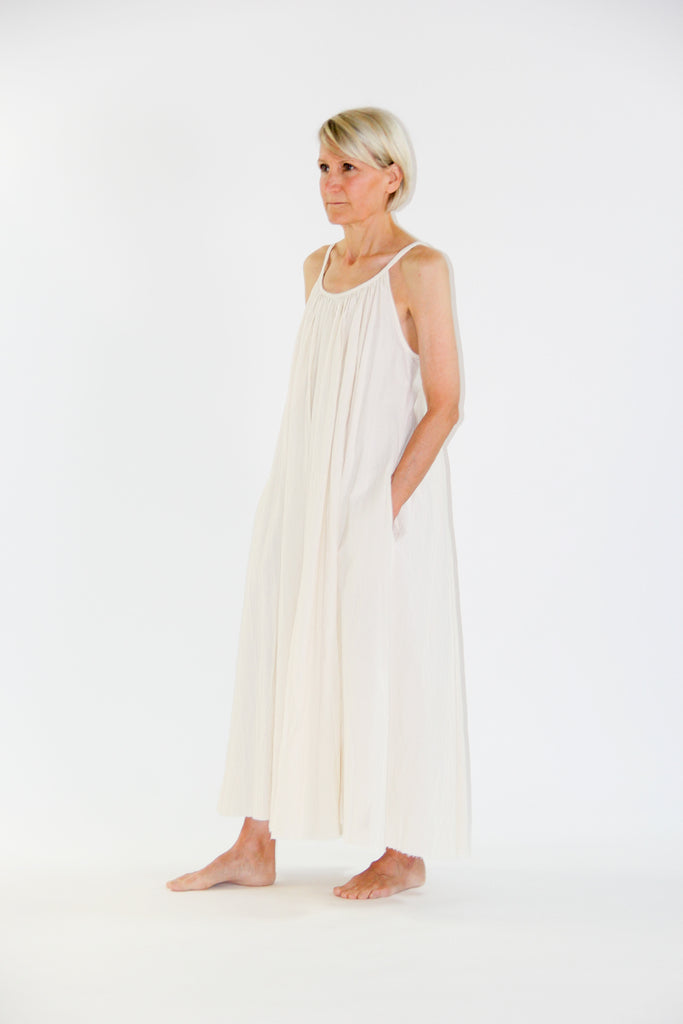 cotton dress - ecru
