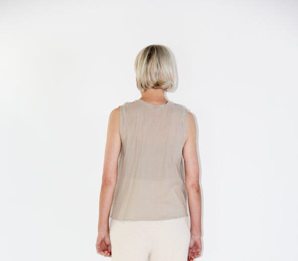 Organic cotton top - beige