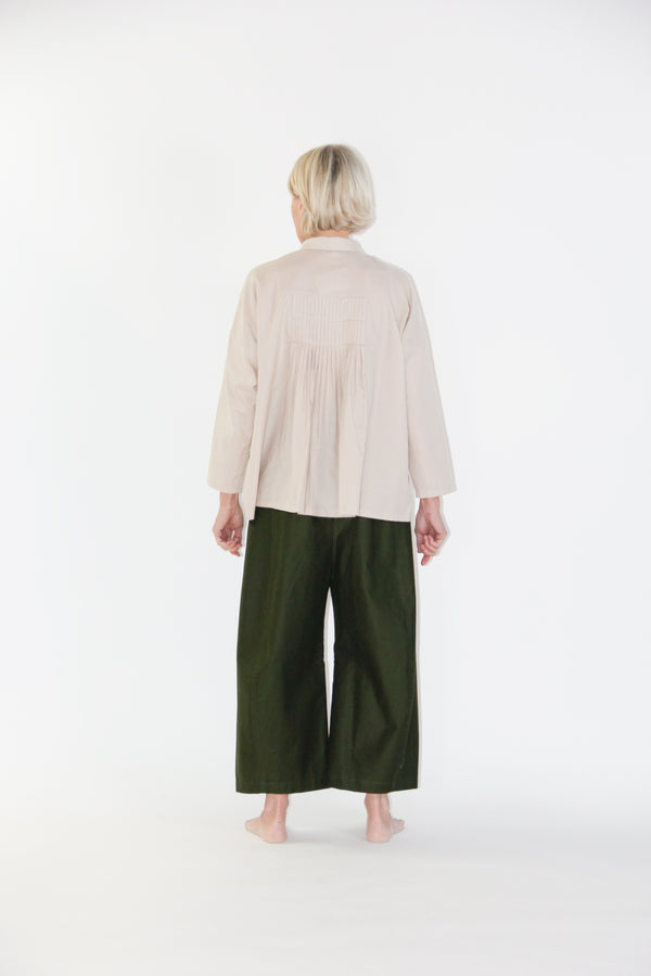fine pleated square shirt