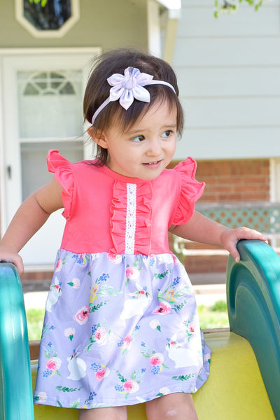 Easter Bunny Short Sleeve Dress