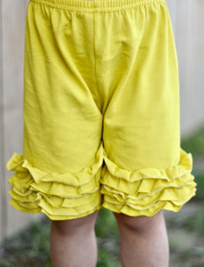 Yellow Icing Shorts (Runs Generous)
