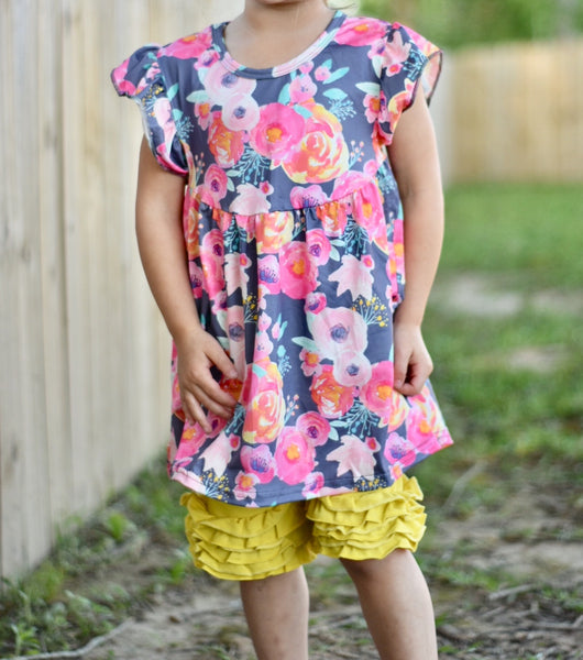 Spring Showers Flutter Sleeve Tunic