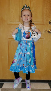 Let It Go Frozen Twirl Dress