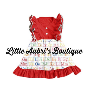 ABC Ruffle Dress