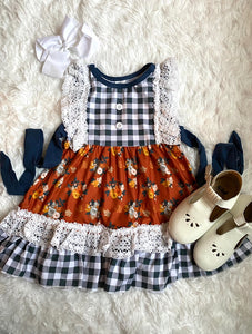 Pumpkin Farm Ruffle Lace Dress