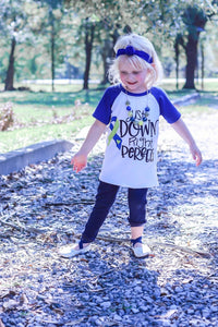 "Down Syndrome Awareness ""Just Down Right Perfect"" Raglan"