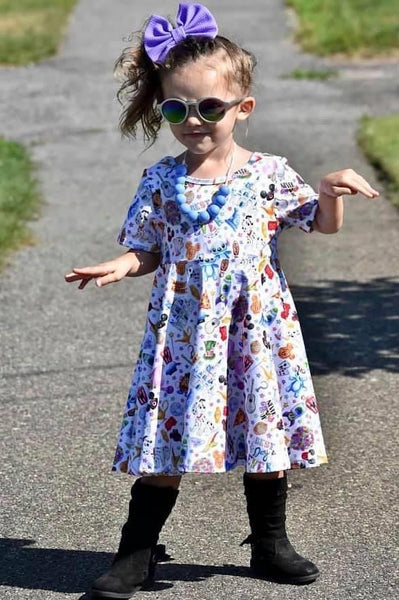 Never Grow Up Cross Back Twirl Dress