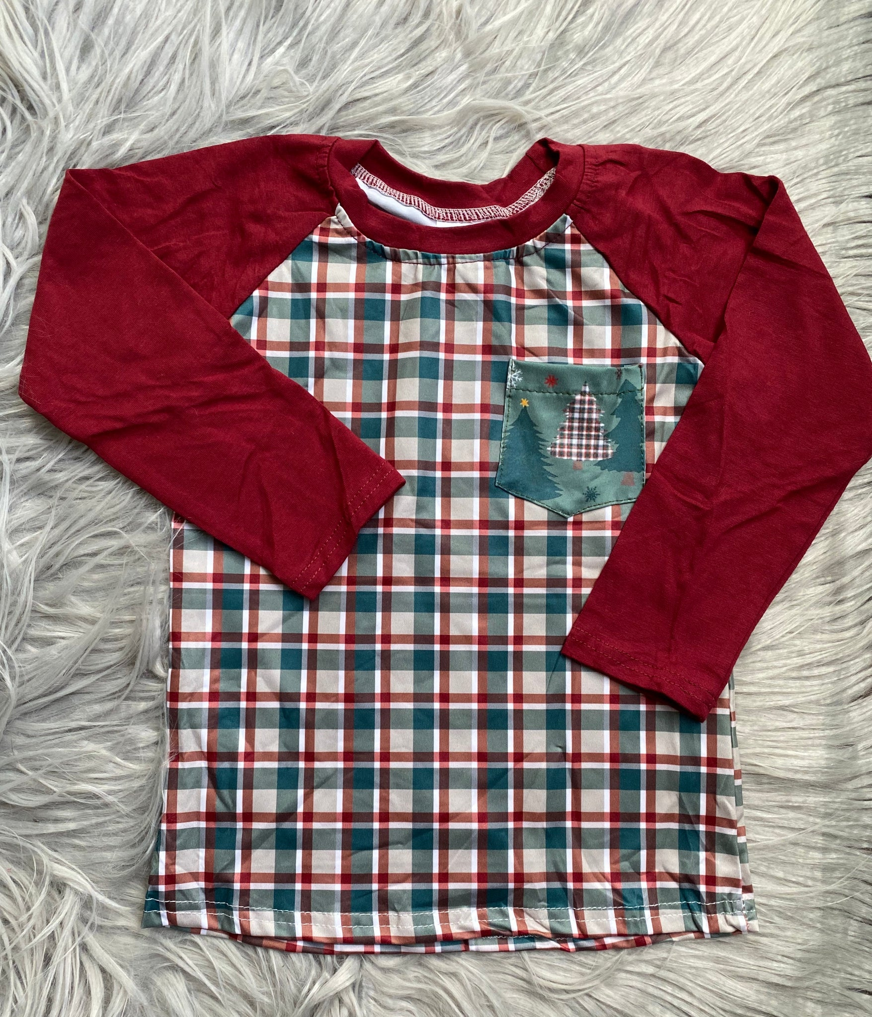 Oh Christmas Tree Long Sleeve Pocket Raglan