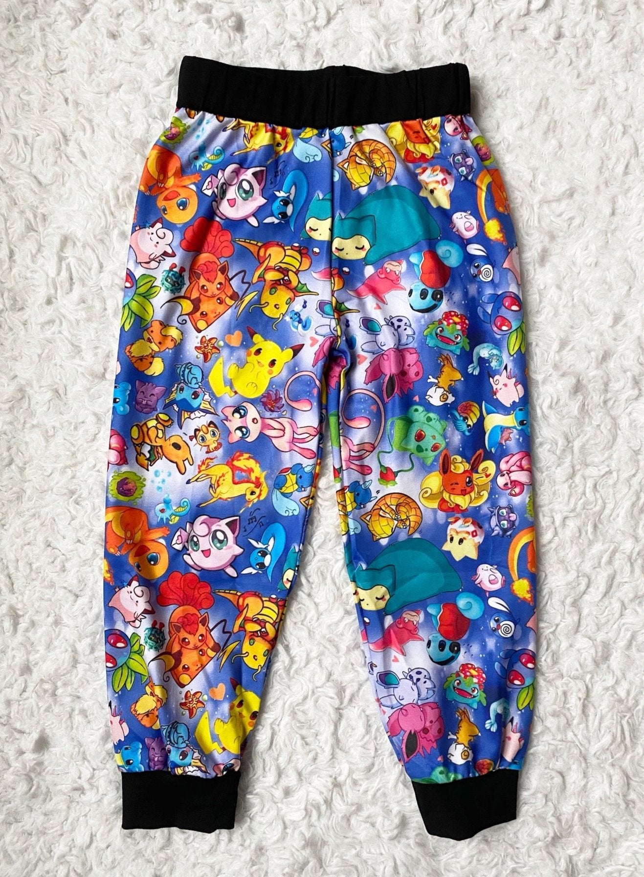 Blue Pokemon Joggers