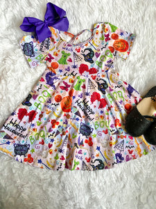 Halloween on Main St. Cross Back Twirl Dress